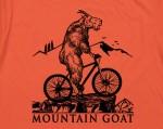 Mountain biking goat