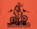 Mountain biking goat